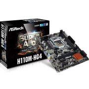 Placa Mãe ASROCK H110M-HG4 P/ INTEL LGA 1151 DDR4 USB 3.0 SATA III