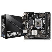 Placa Mãe ASROCK H310M-HG4 P/ INTEL LGA 1151 DDR4 USB 3.1 SATA III