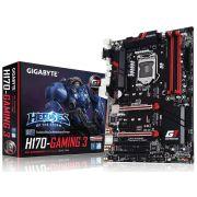 Placa Mãe Gigabyte GA-H170-GAMING 3 G1 Gaming DDR4 P/ INTEL LGA 1151