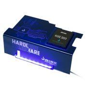 Psu Cover Rise Hardcore LED AZUL com Suporte de SSD RM-CP-02-HD