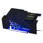 Psu Cover Rise ICE COLD LED AZUL com Suporte de SSD RM-CP-02-IC