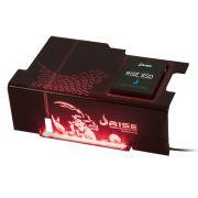 Psu Cover Rise Scorpion Fire LED Vermelho com Suporte de SSD RG-CP-02-SK
