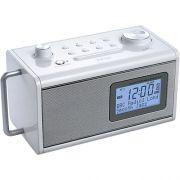 Rádio Relógio Teac R-5 Branco AM/FM, ENT. Auxiliar, Bateria Recarregável
