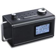 Rádio Relógio Teac R-5 Preto AM/FM, ENT. Auxiliar, Bateria Recarregável