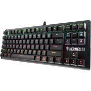 Teclado Gamer Mecânico Gamdias Hermes E2 7 Cores SWITCH Blue USB