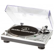 Toca Disco Audio Technica LP120 USB Bivolt Prata AT-LP120-USB