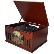 Vitrola CTX Scala, TOCA-DISCOS Vinil, Entrada USB, Rádio FM, CD,  Auxiliar