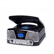 Vitrola Raveo Harmony BT Preta C/ Bluetooth Toca Discos Vinil, USB, SD, CD, FM