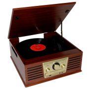 Vitrola Raveo Sonata Bivolt, Toca Discos, CD Player, Rádio FM, USB, Entrada Auxiliar