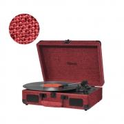 Vitrola Retrô Raveo Sonetto Onix Fire (Vermelho), Toca Discos, Entrada USB, Bluetooth, Reproduz e Grava Vinil