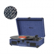 Vitrola Retrô Raveo Sonetto Onix Water (Azul), Toca Discos, Entrada USB, Bluetooth, Reproduz e Grava Vinil