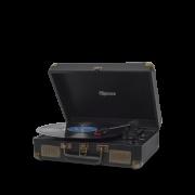 Vitrola Retrô Raveo Sonetto Preta, Toca Discos, Entrada USB, Bluetooth, Reproduz e Grava Vinil