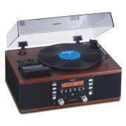 Vitrola Teac LP-R550USB, Toca Discos Vinil, Cassete, Rádio AM/FM |, CD, AUX