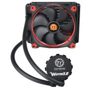 Water Cooler Thermaltake Water 3.0 Riing LED Vermelho 140 CL-W150-PL14RE-A