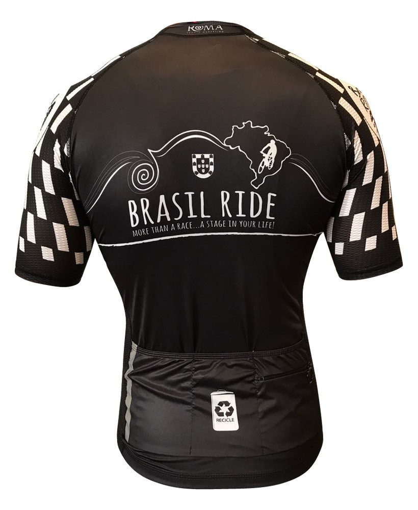 Jersey Brasil Ride Black & White