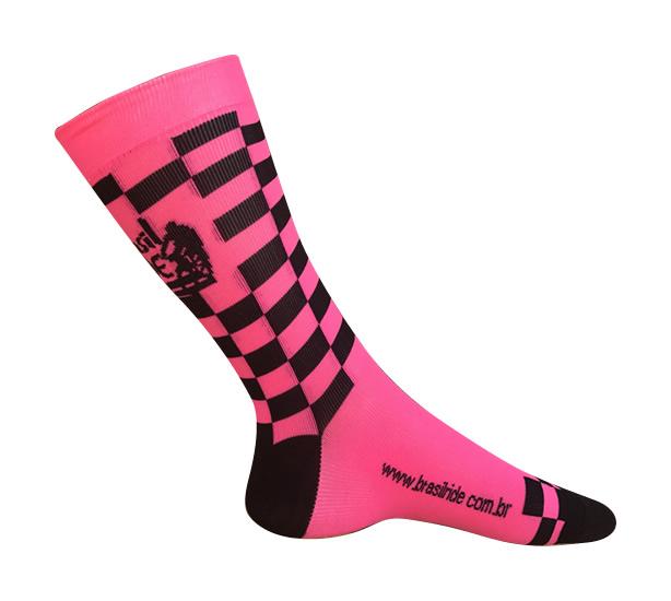 Meia Brasil Ride Pink