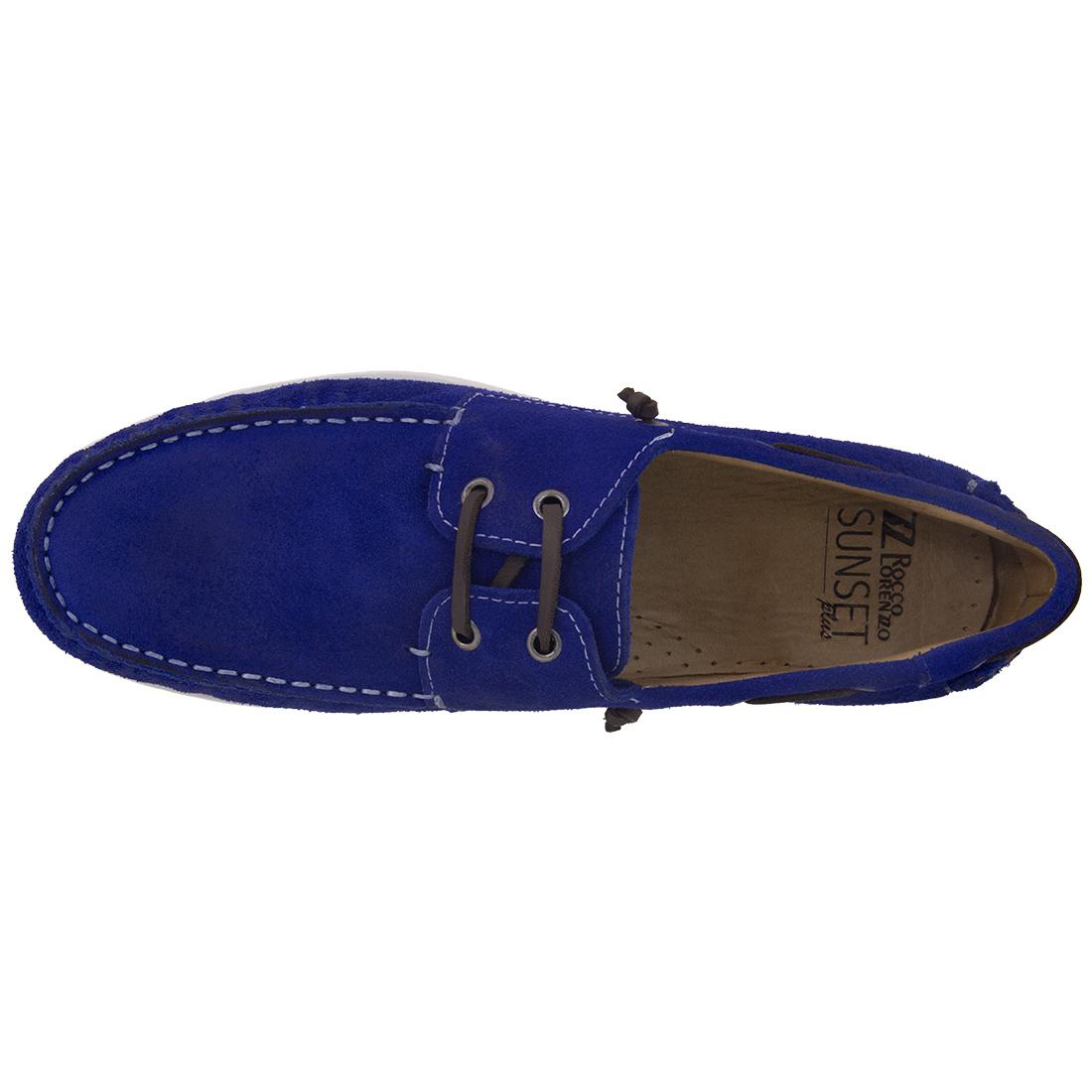 Dockside Masculino Camurça Azul Bic - Rocco Lorenzzo - 4411