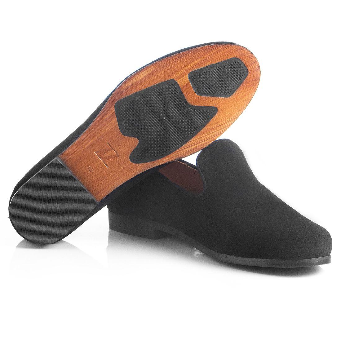 Loafer Masculino em Couro Camurça Preto Rocco Lorenzzo - 4500