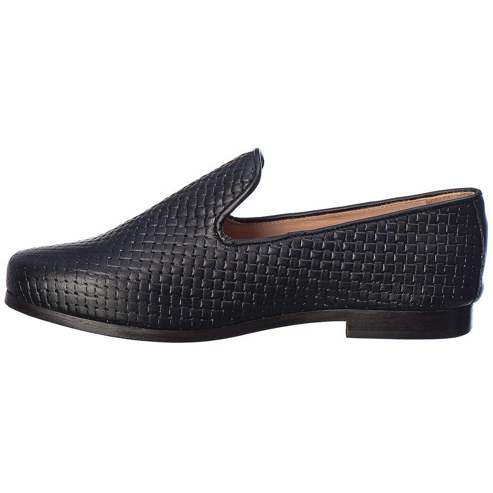 Loafer Masculino em Couro Floather Preto Rocco Lorenzzo - 4521