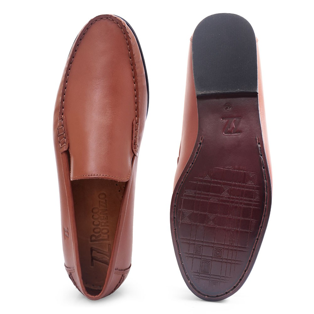 Mocassim Argentino Masculino em Couro Latego Whisky Rocco Lorenzzo - 4489