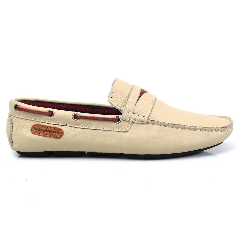 Mocassim Casual Masculino em Couro Gelo Floather Rocco Lorenzzo - 1064