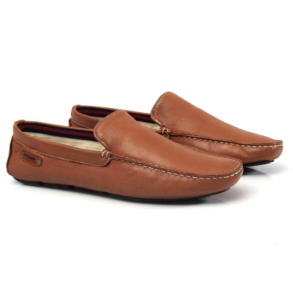 Mocassim Driver Masculino em Couro Caramelo Floather Rocco Lorenzzo - 1065