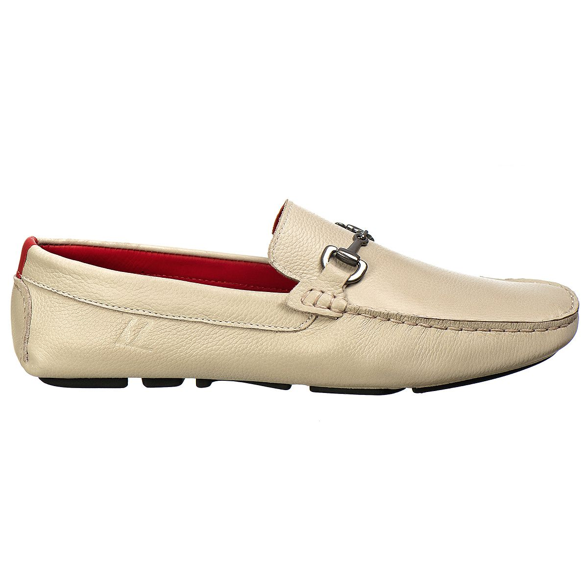 Mocassim Driver Masculino em Couro Floather Gelo Rocco Lorenzzo - 4496