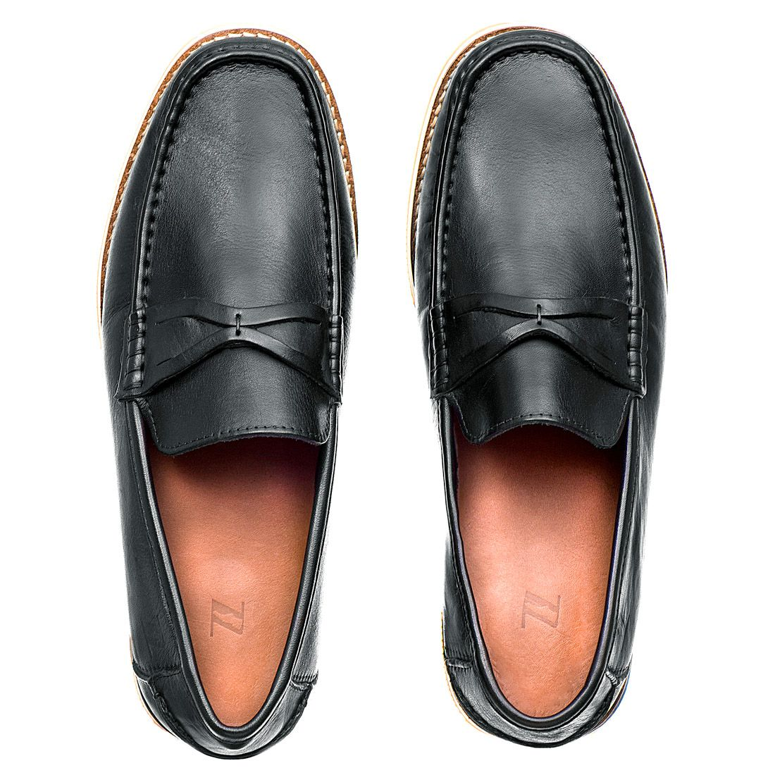 Sapato Casual Masculino em Couro Latego Preto Rocco Lorenzzo - 4504