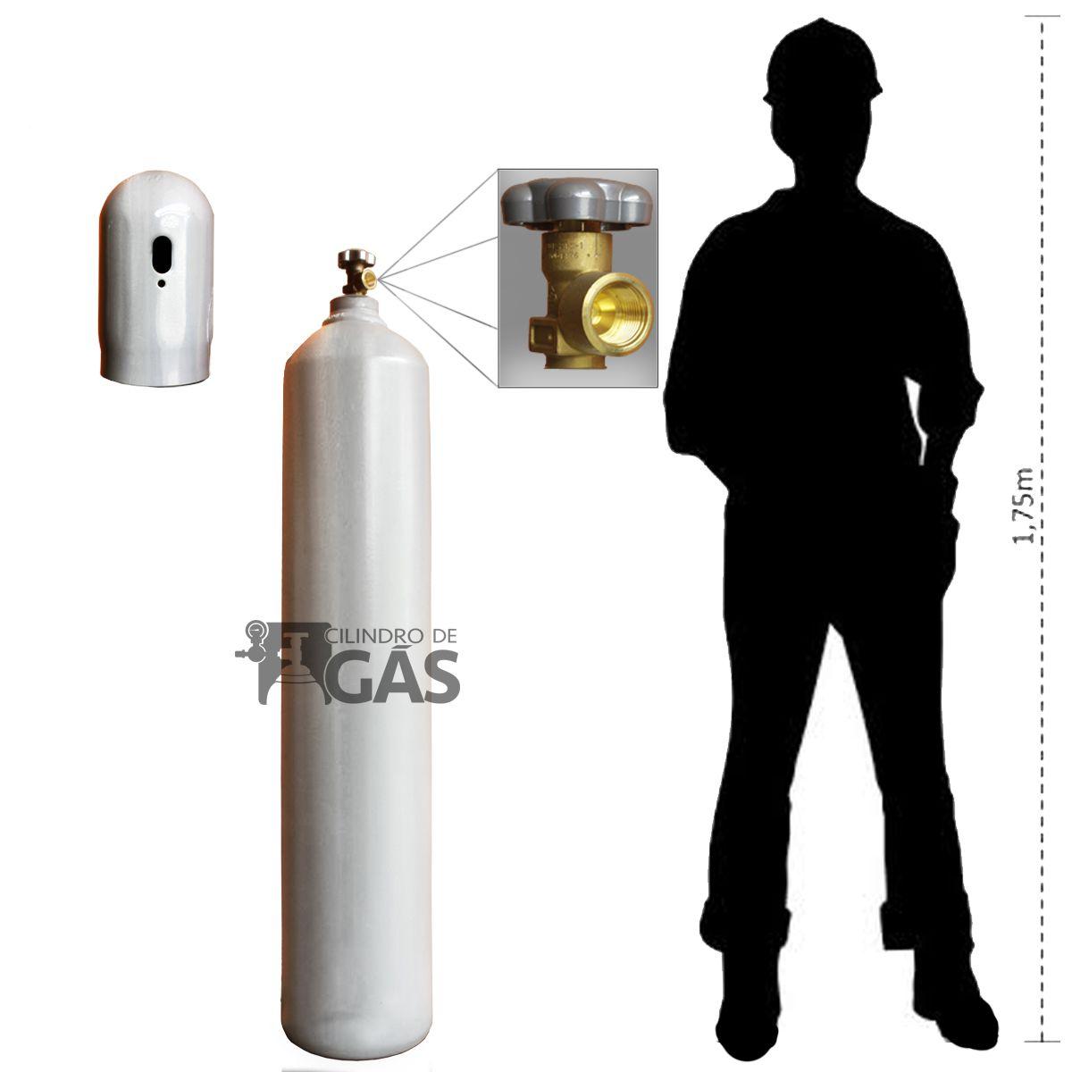 Cilindro para Dióxido de Carbono - CO2 -  40L
