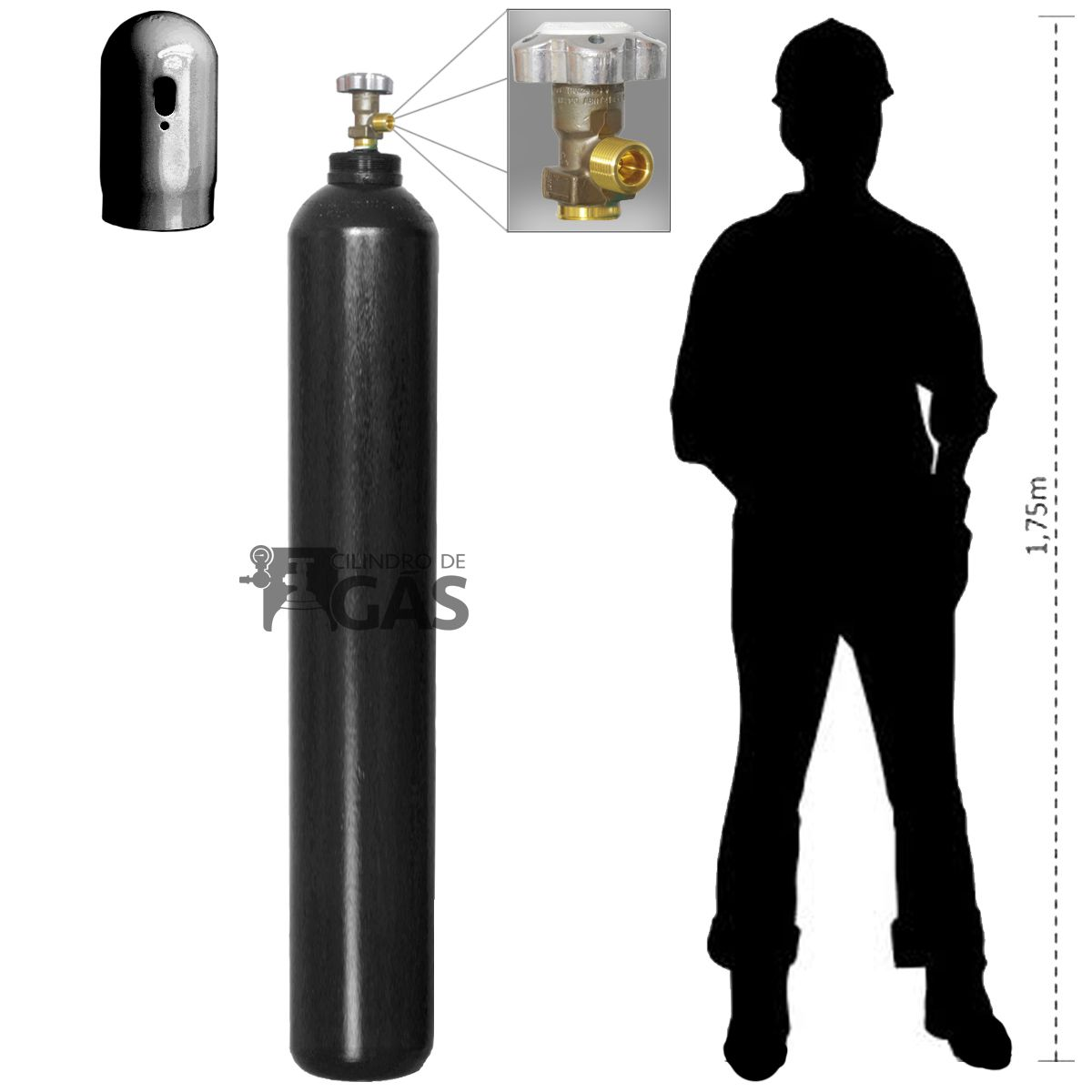 Cilindro para Oxigênio Industrial - 50L