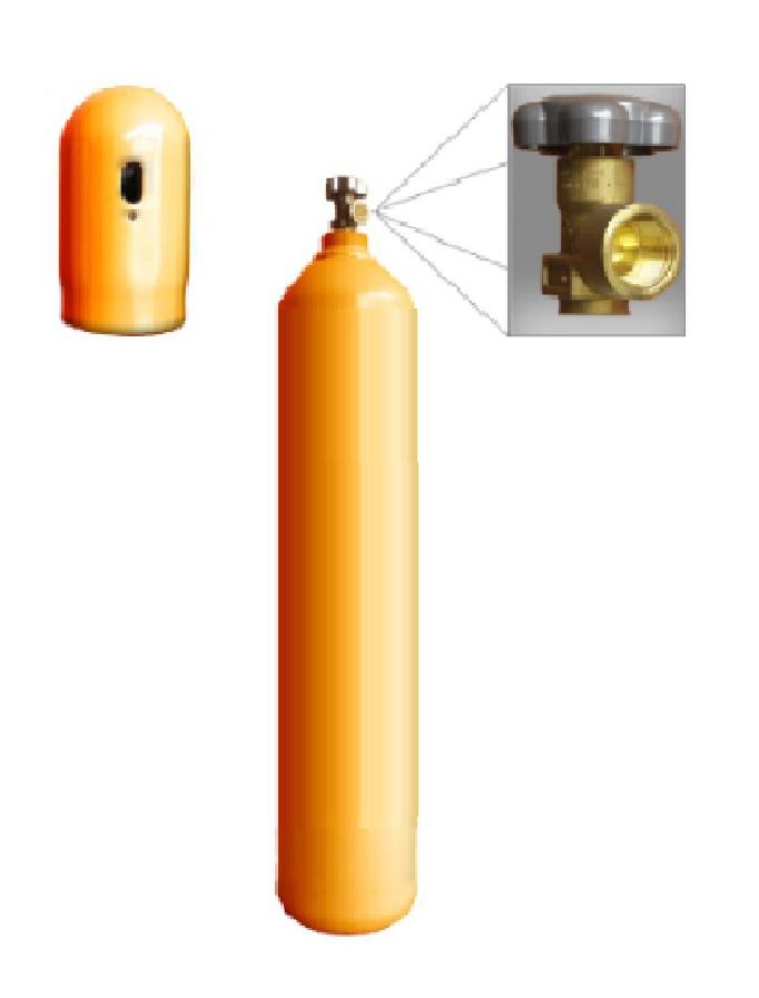 Cilindro para Hélio - He  - 15L