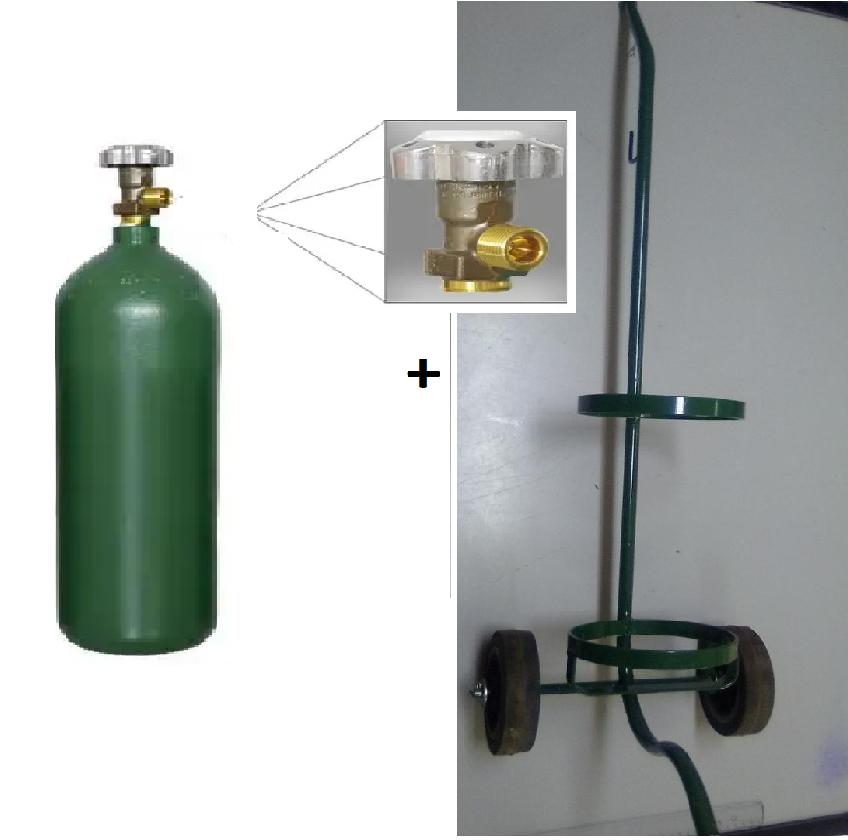 KIt - Cilindro para Oxigênio Medicinal - 5L   + Carrinho