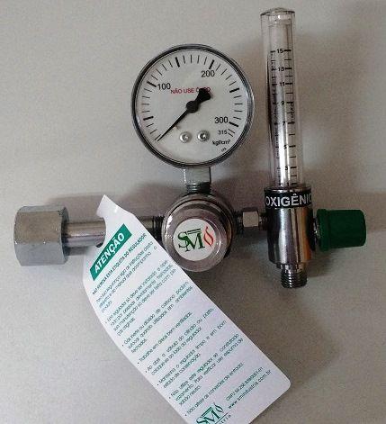 REGULADOR DE PRESSÃO COM FLUXÔMETRO 0-15L/MIN Oxigênio Medicinal