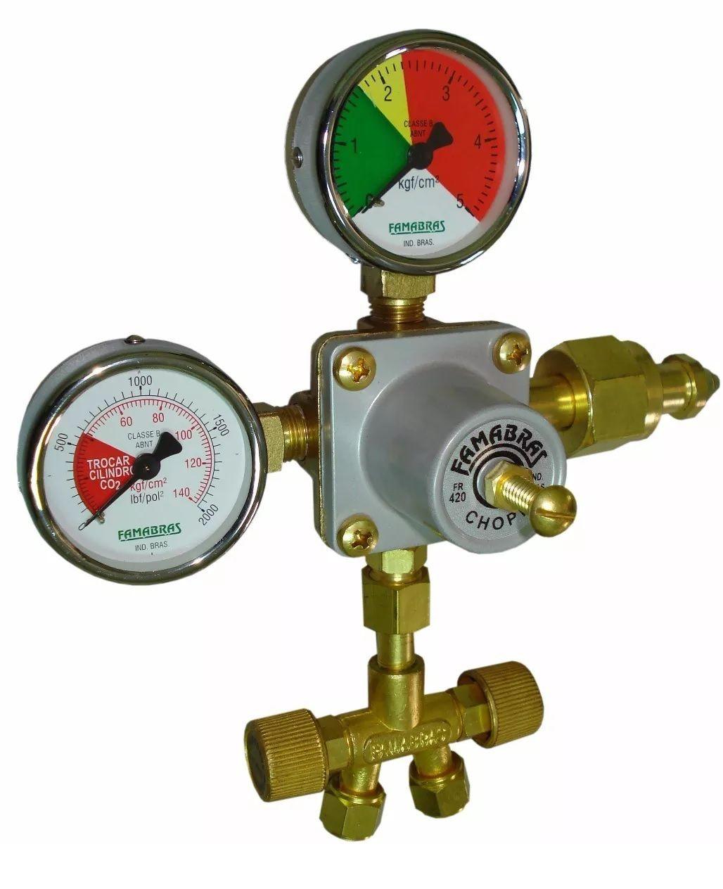 Regulador De Pressão Para Chopeiras - Famabras Fr-420A/FSA