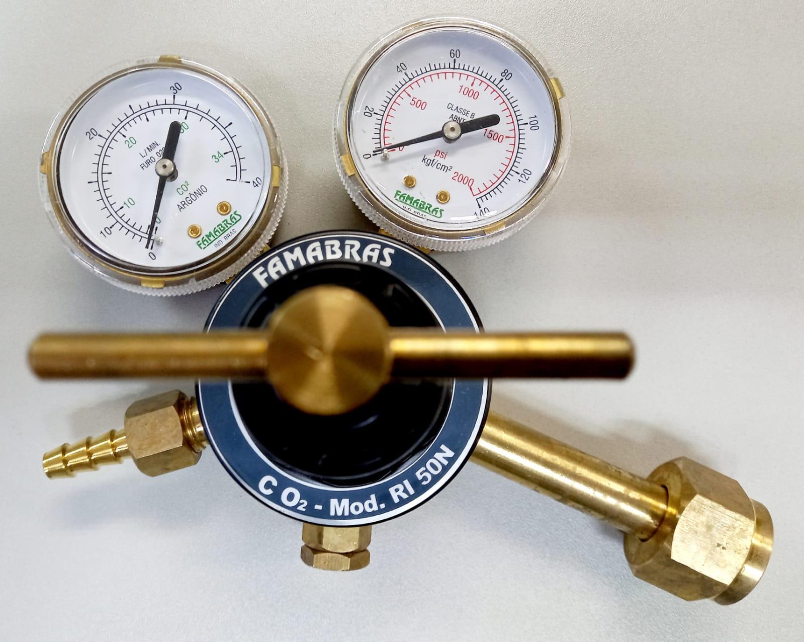 Regulador para Cilindro de CO2 - RI 50N