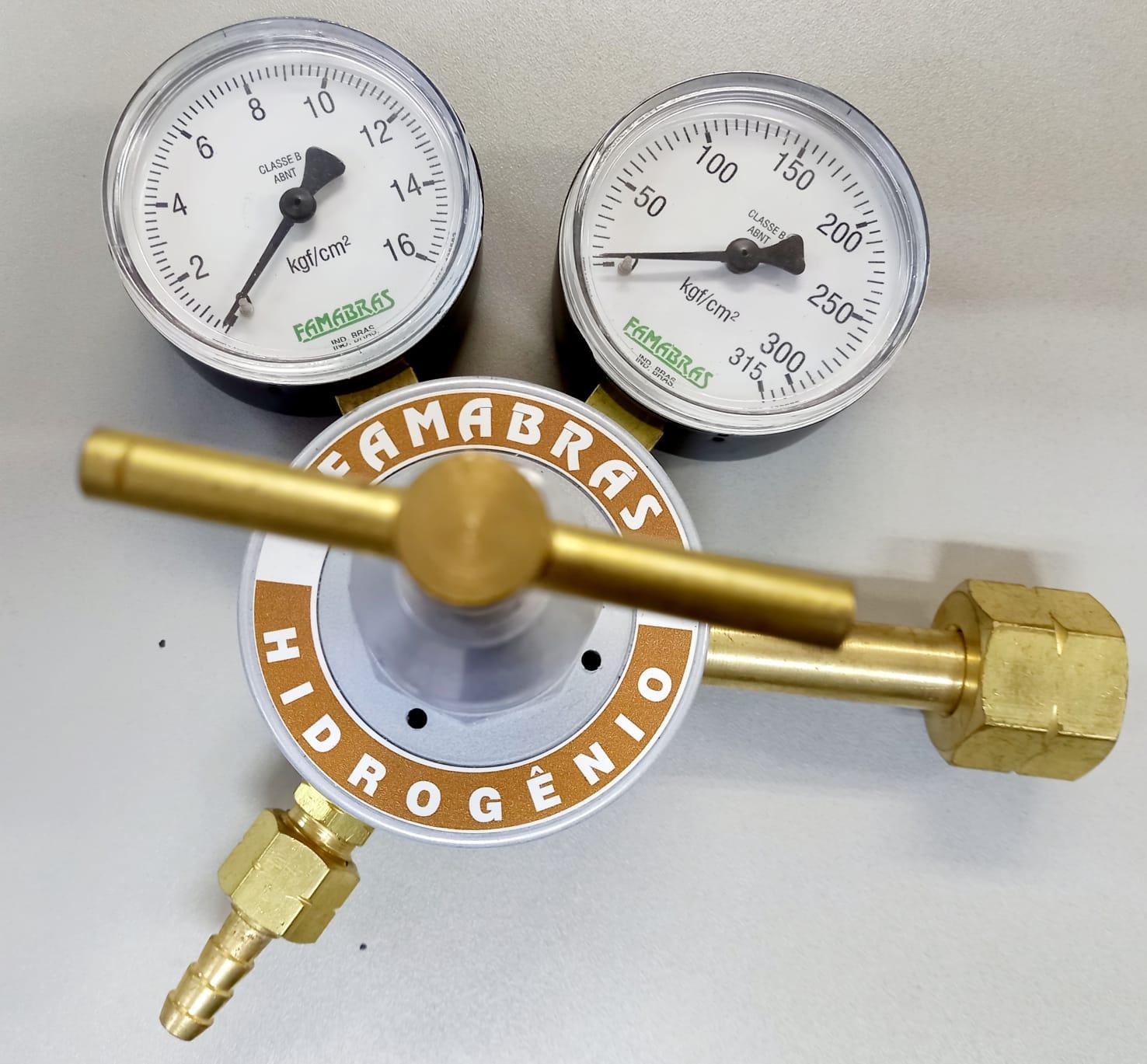 Regulador para Cilindro de Hidrogênio - FRN 160N - Nacional