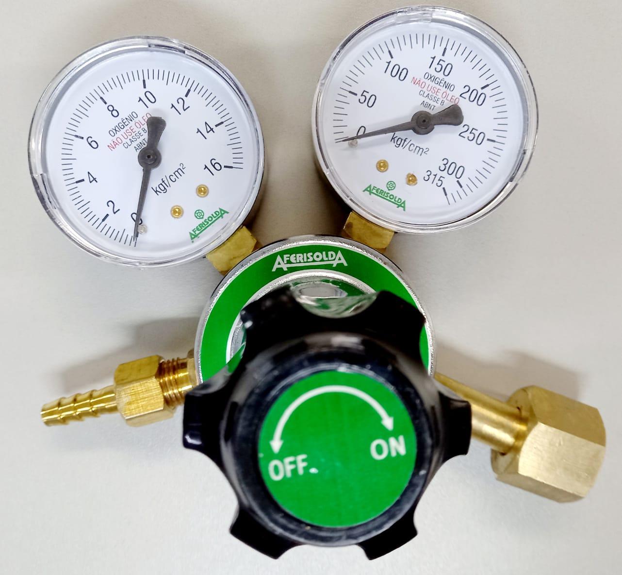 Regulador para Cilindro de Oxigênio Industrial  RI-16 Bronze