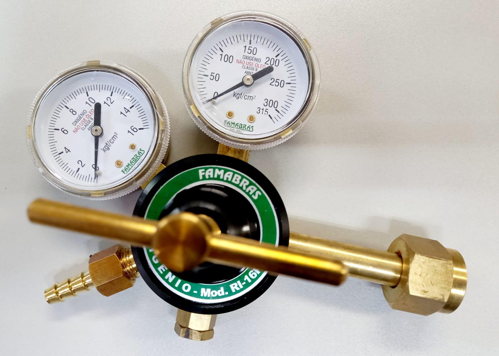 Regulador para Cilindro de Oxigênio Industrial RI 16P - Famabras