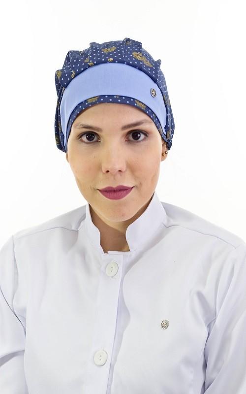 Touca Feminina Coroa Azul 02a381799ed