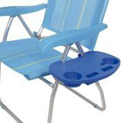 Mesa Portátil Para Cadeira De Praia Porta Copos