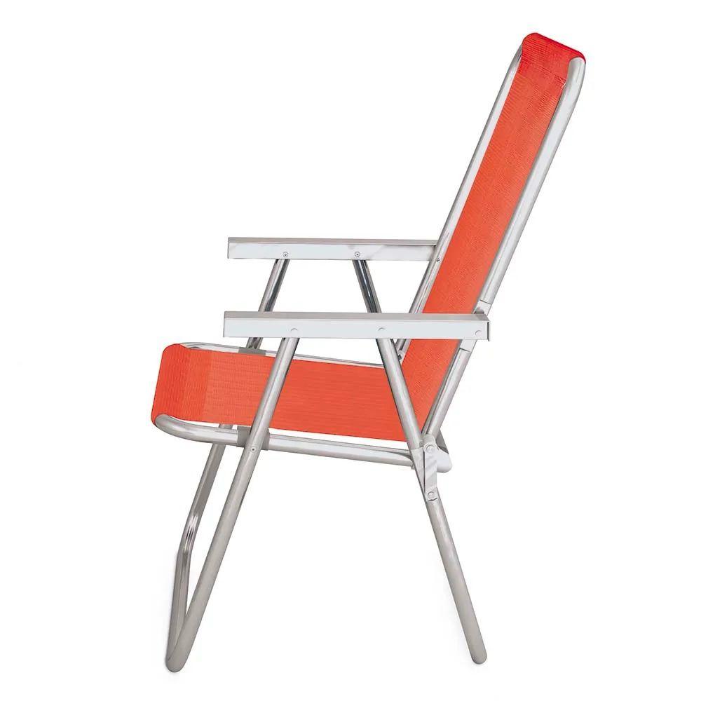 Cadeira de praia de alumínio alta conforto mor 120kg