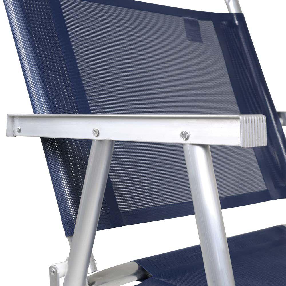 Cadeira De Praia Oversize Resistente Mor Suporta Até 140kg