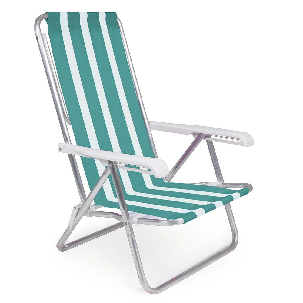 cadeira reclinável 8 posições de alumínio mor