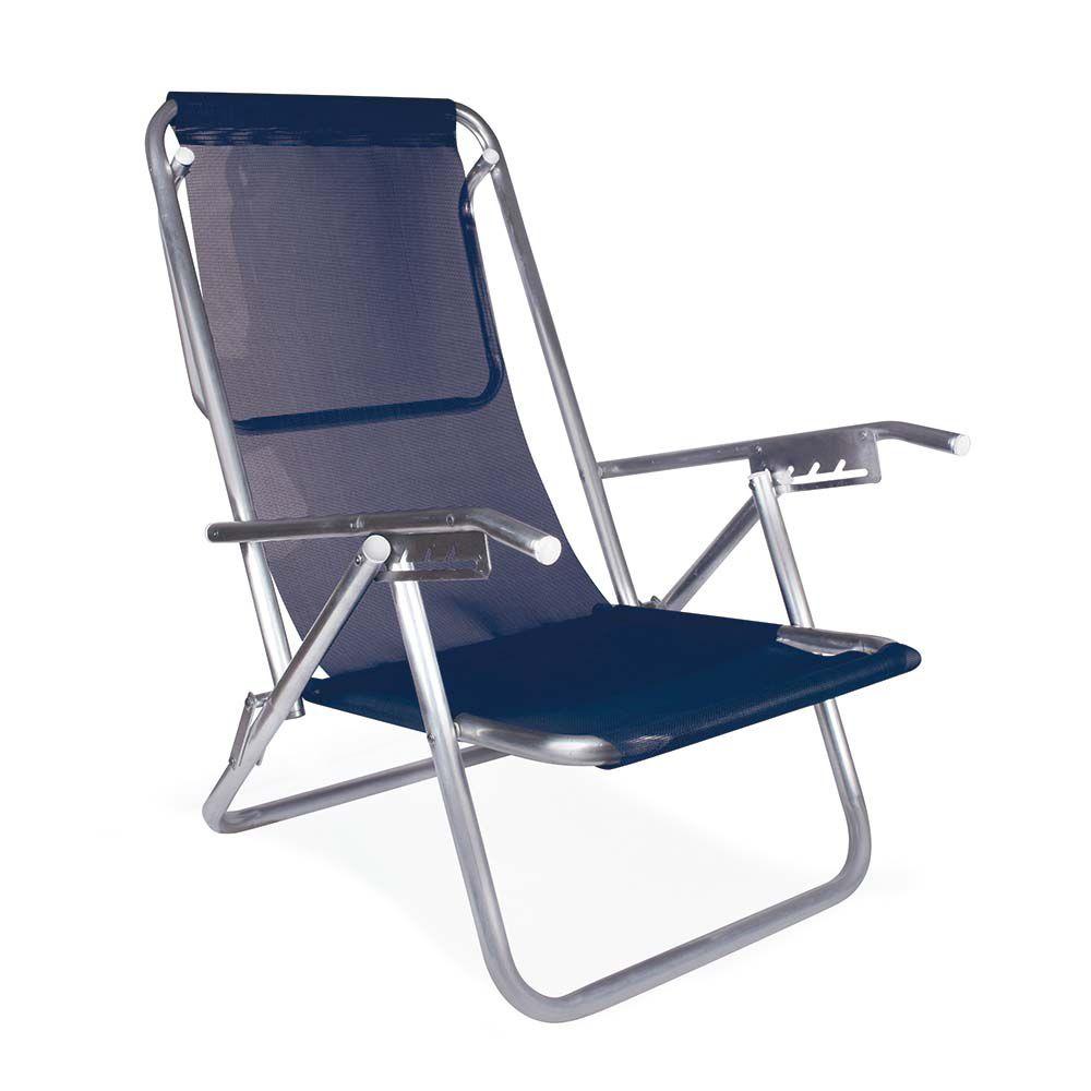 Cadeira Reclinável Alumínio 5 Posições Para 130kg