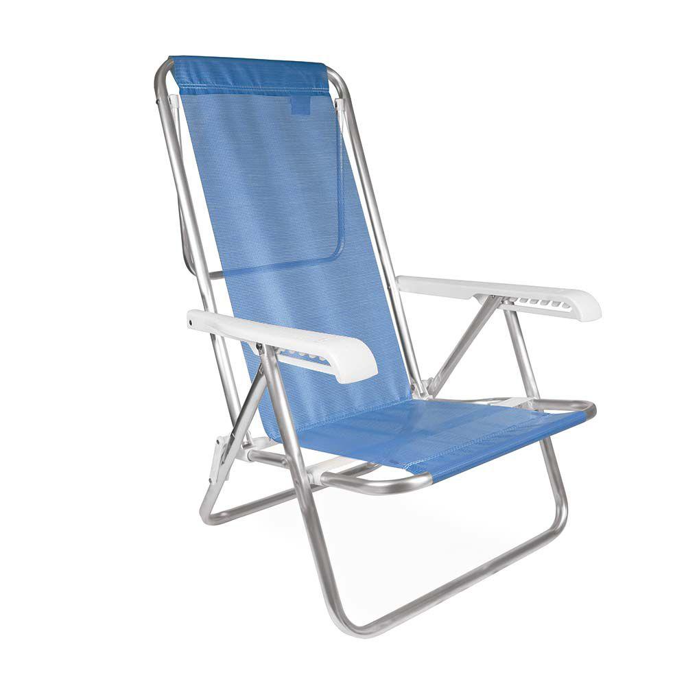 Cadeira Reclinável De Alumínio 8 Posições Para 100kg