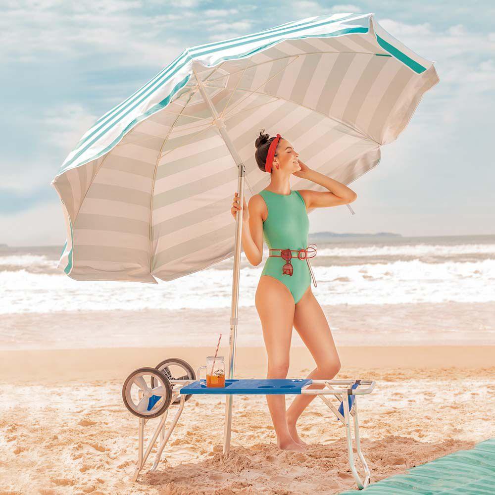 Carrinho De Praia Para Cadeiras Com Avanço