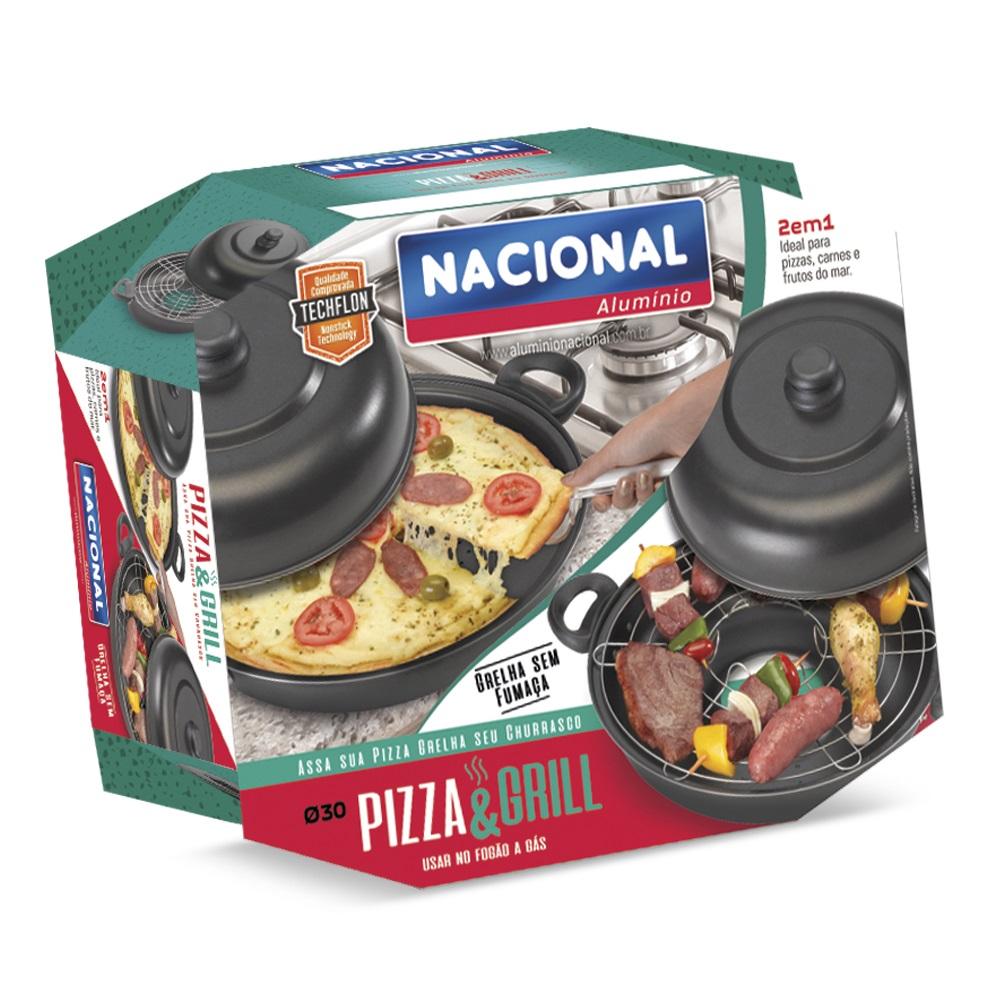 Churrasqueira De Fogão Pizza E Grill 2 Em 1 Antiaderente