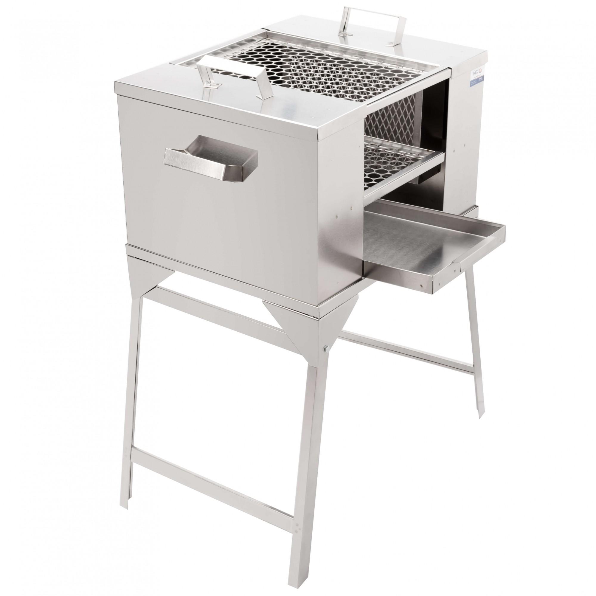 Churrasqueira Ecológica Para Apartamento Sem Fumaça 50 cm x 40 cm Aço Inox