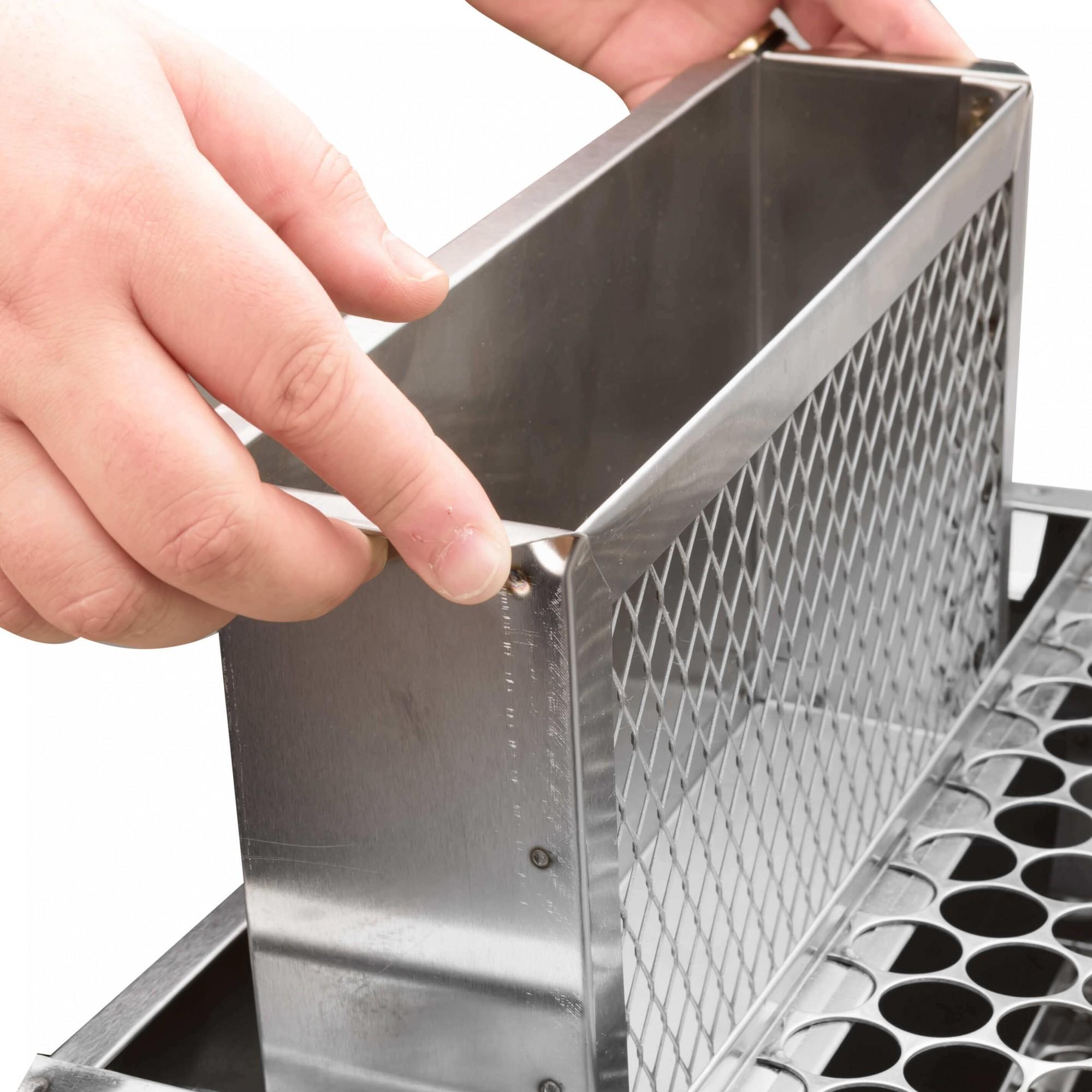 Churrasqueira Para Apartamento Ecológica Sem Fumaça De Embutir 60 cm x 40 cm aço inox