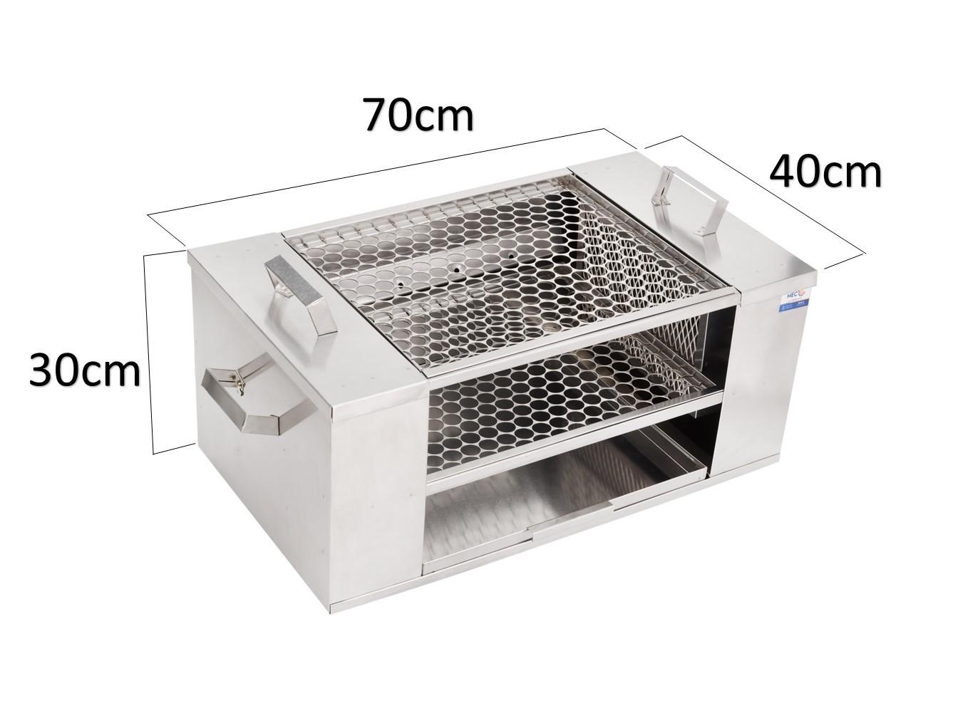 Churrasqueira Para Apartamento Ecológica Sem Fumaça De Embutir 70 cm x 40 cm